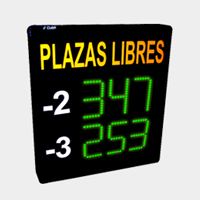 Panel plazas libres